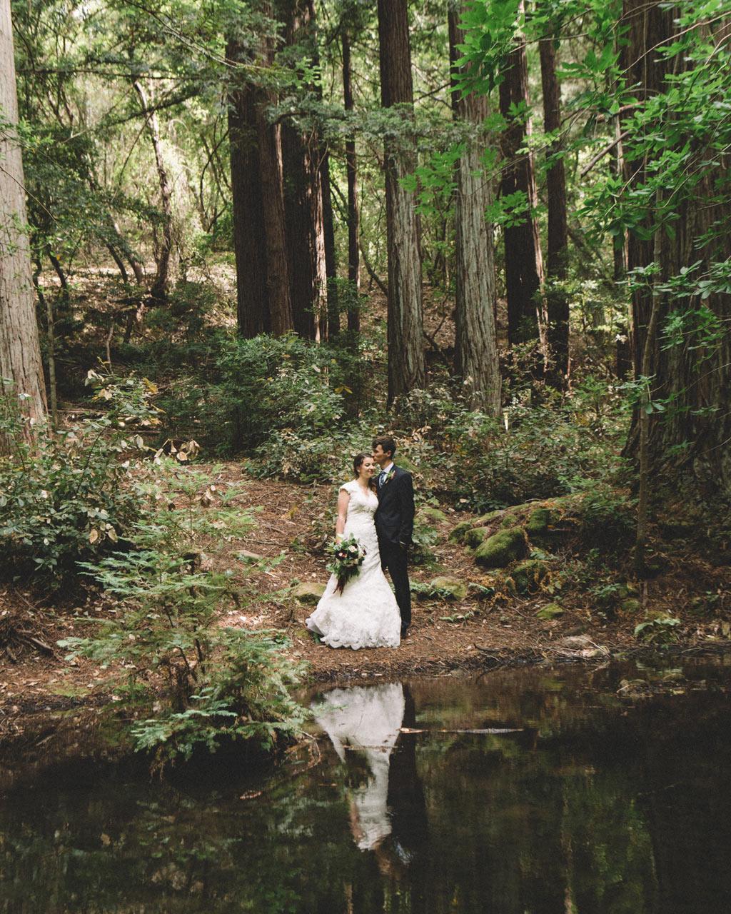 Redwoods Wedding Sanborn park saratoga California lake