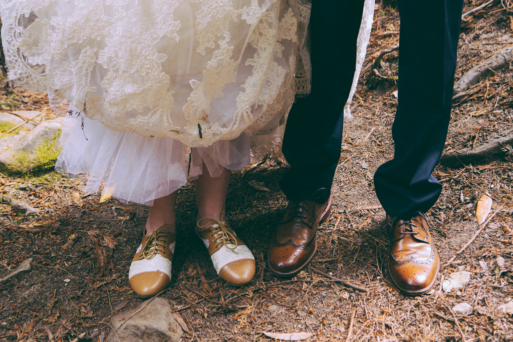 Redwoods Wedding Sanborn park saratoga California shoes