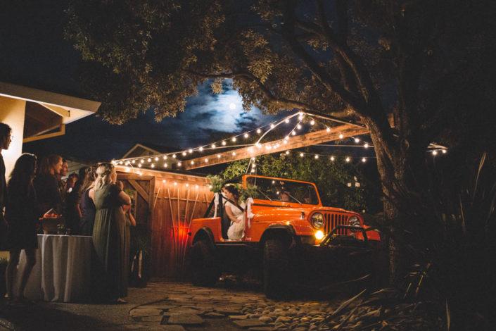 Redwoods Wedding Sanborn park saratoga California jeep