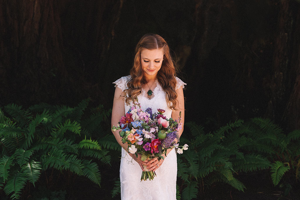 Santa Cruz Wedding Redwoods Fern River California photographer