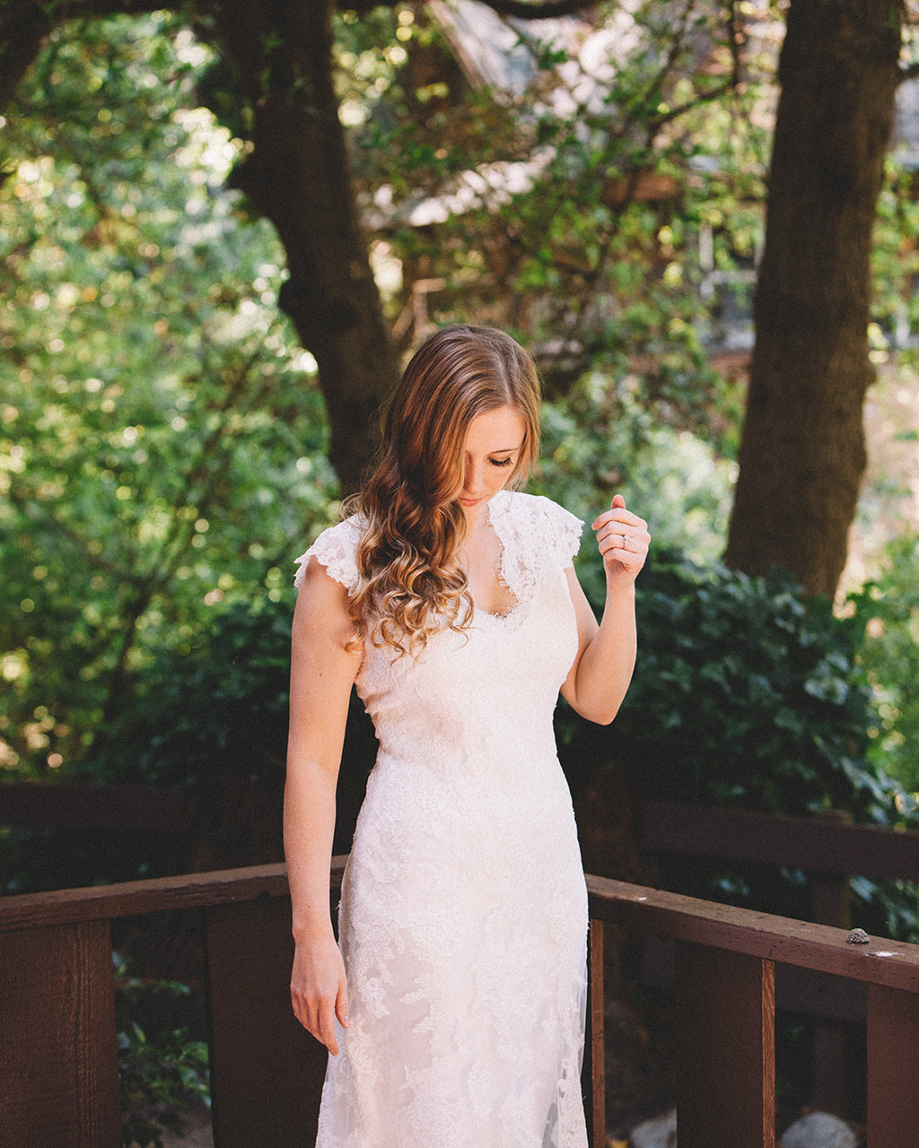 Santa Cruz Wedding Redwoods Fern River California bride