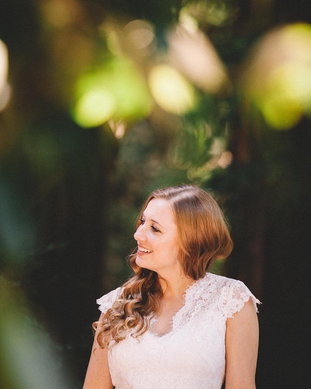 Santa Cruz Wedding Redwoods Fern River California
