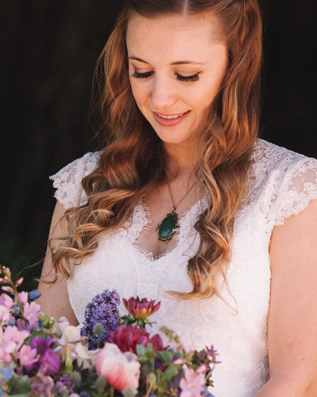 Santa Cruz Wedding Redwoods Fern River California bridal bouquet