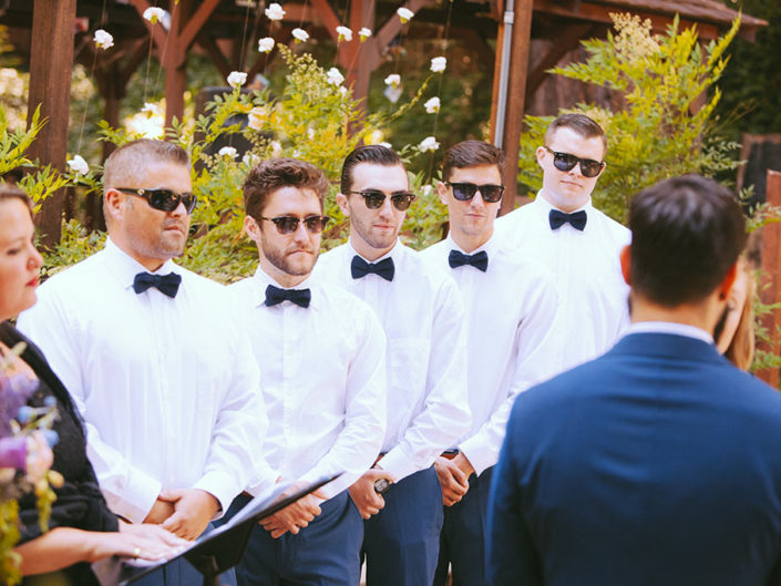 Santa Cruz Wedding Redwoods Fern River California best men