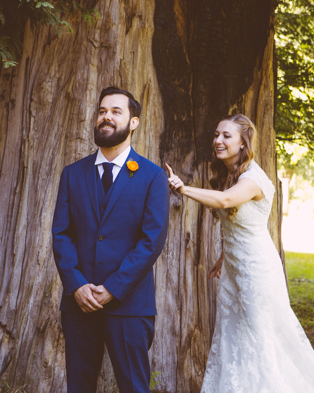 Santa Cruz Wedding Redwoods Fern River California First look
