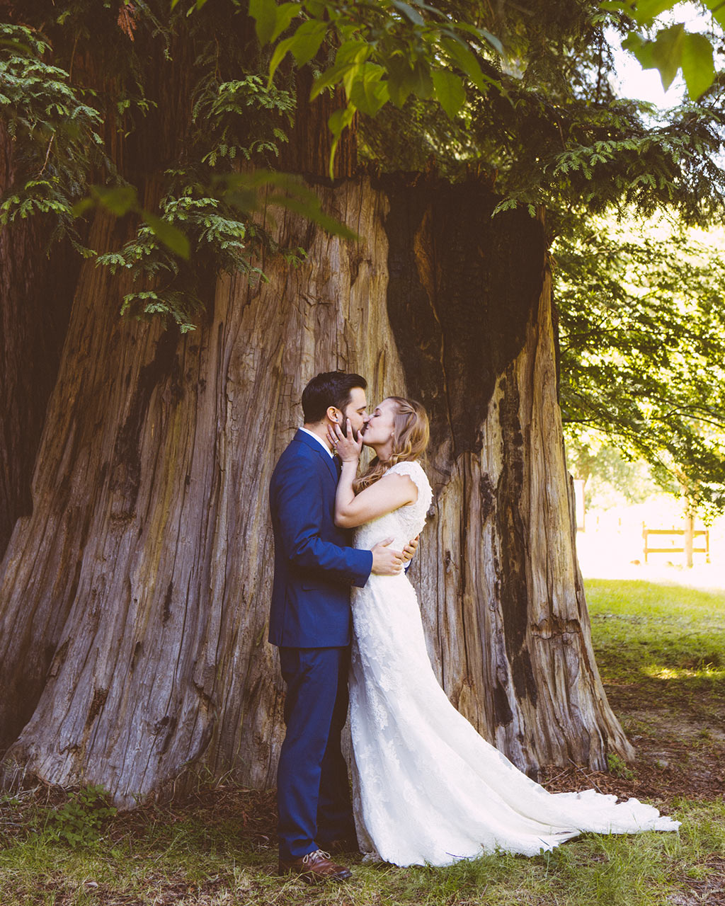 Santa Cruz Wedding Redwoods Fern River California